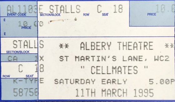 Cell Mates - Theatre Ticket.