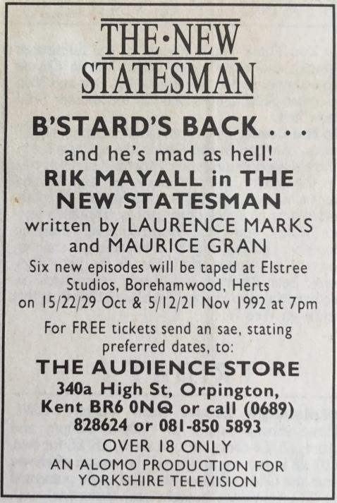 The New Statesman ad.