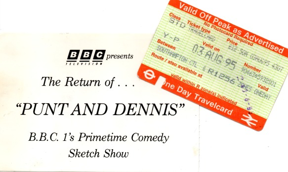 Punt and Dennis Tickets.