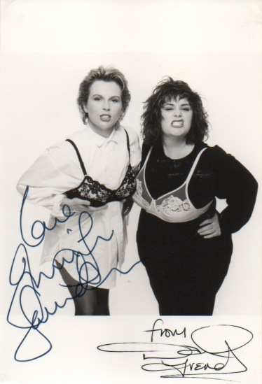 French and Saunders signed picture