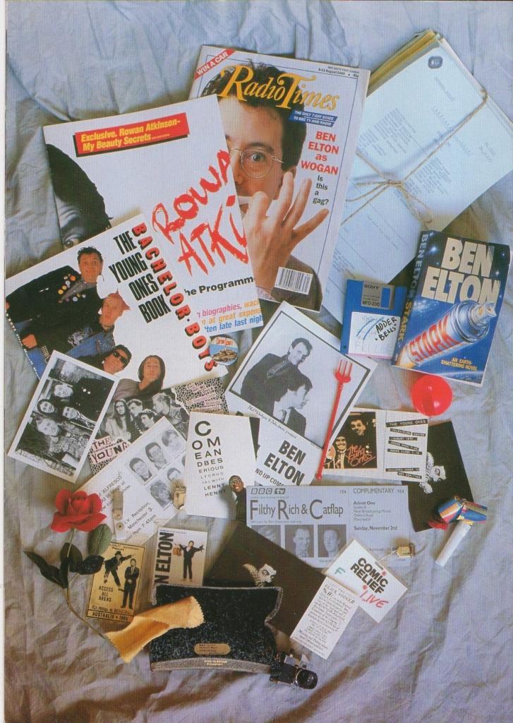 Ben Elton Tour 89 programme 13