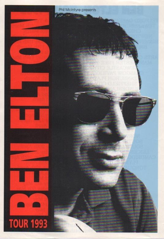 Ben Elton Tour 93 leaflet