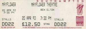Ben Elton Tour 93 ticket