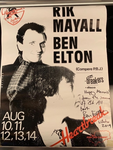 Chris Marks, Poster from Ibiza, signed by Ben Elton