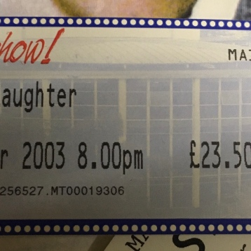 Shaun Gibson, Present Laughter ticket 2003