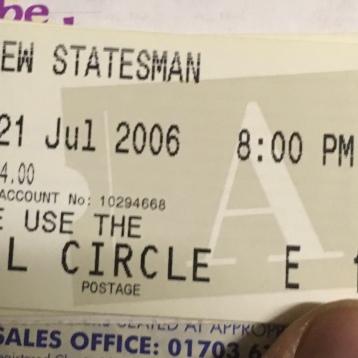 Shaun Gibson, The New Statesman Ticket 2006