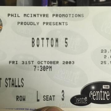 Shaun Gibson, Bottom 5 ticket 2003