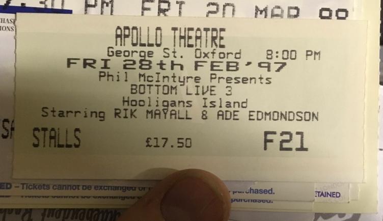 Shaun Gibson, Bottom 3, Hooligans Island ticket 1997