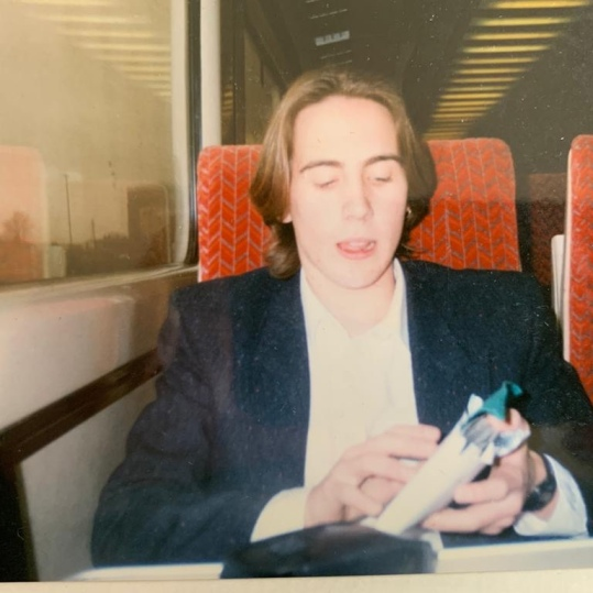 Shaun Gibson, on the train, Tom