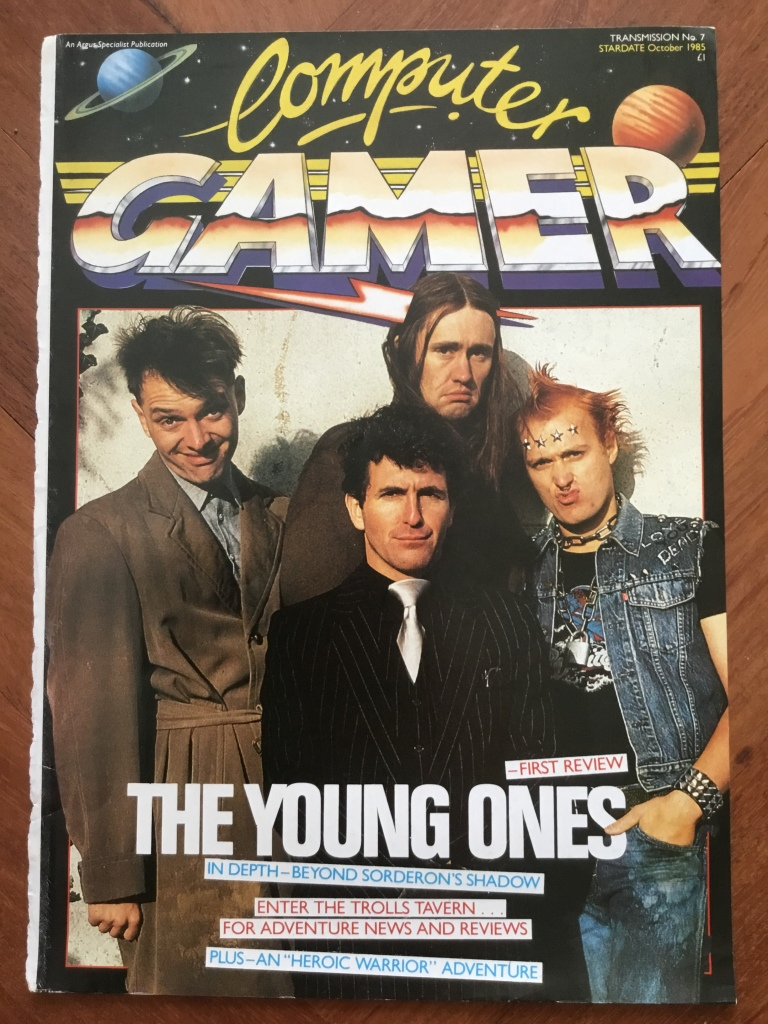 Front cover of Computer Gamer magazine featuring the cast of the young ones