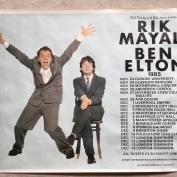Posters, Rik & Ben tour 1985. Quad poster.