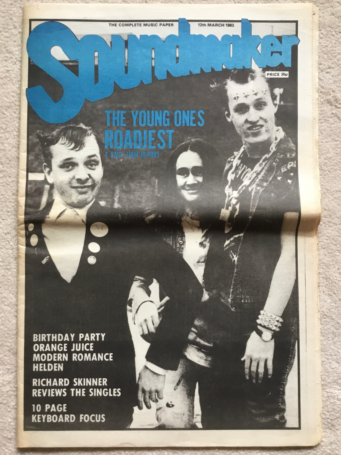 Magazine Covers, Soundmaker, 12th March 1983.