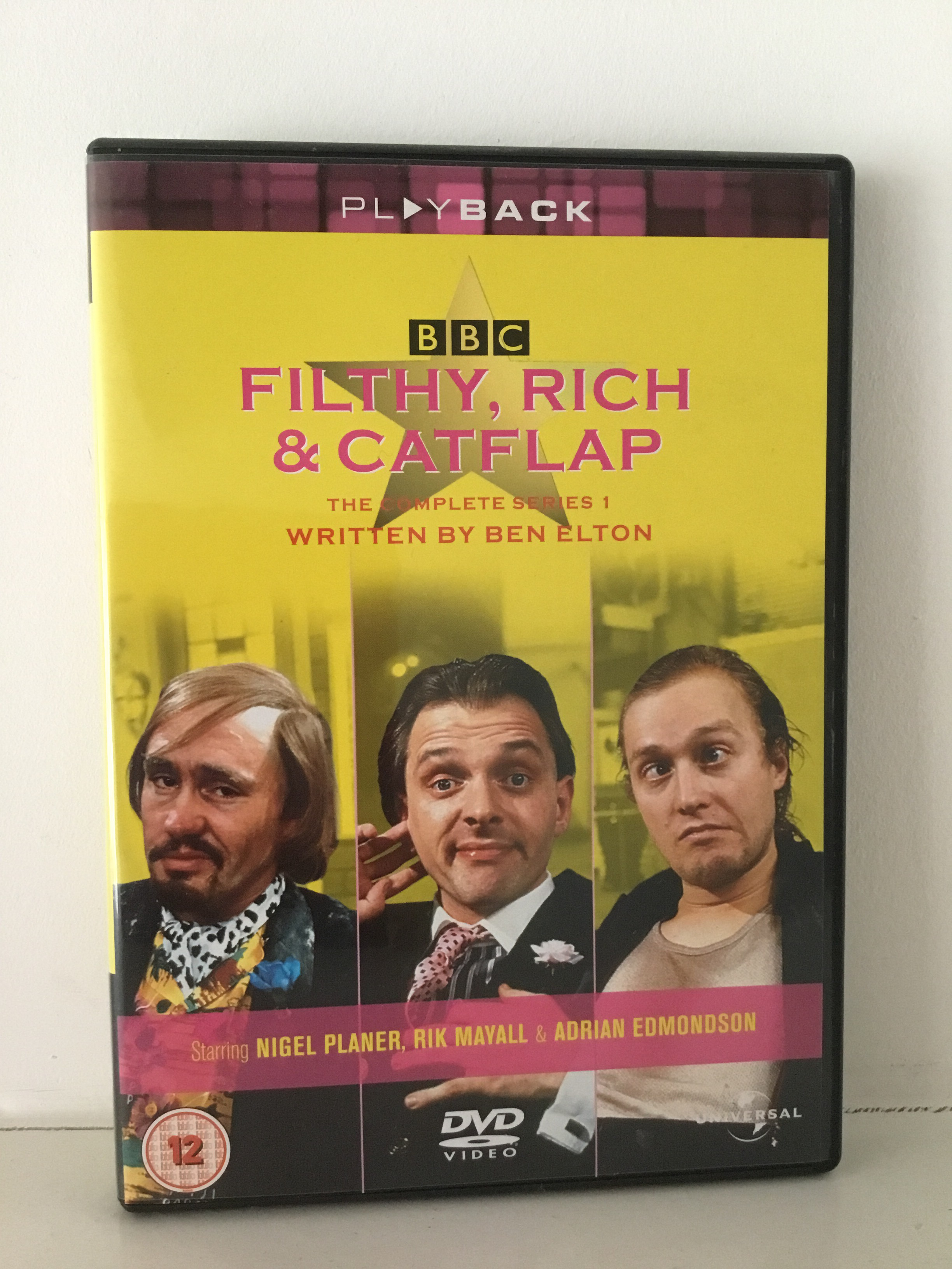 VHS/DVDs, Filthy Rich and Catflap dvd.