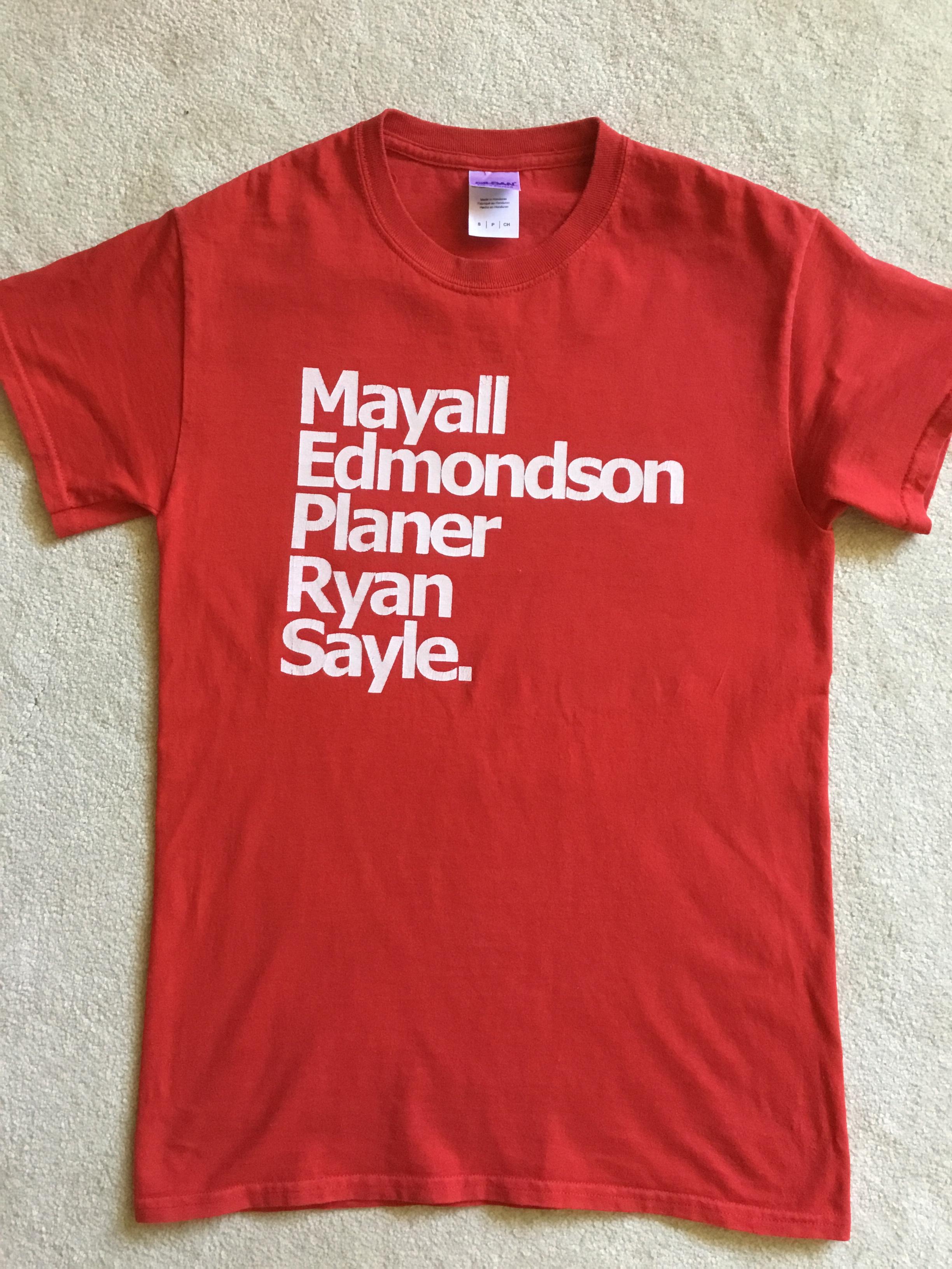 T-Shirts, Mayall, Edmondson, Planer, Ryan, Sayle.