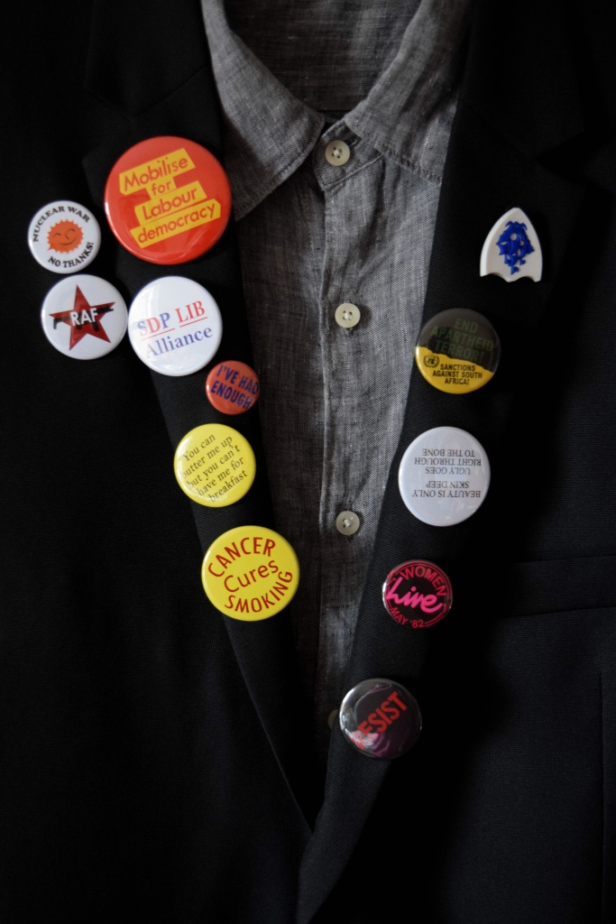 Rick from the young ones famous blazer badges, recreated by Zoe Reed