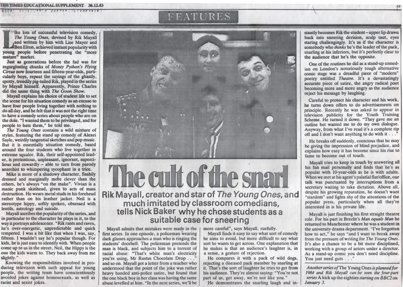 Scan of the newspaper article