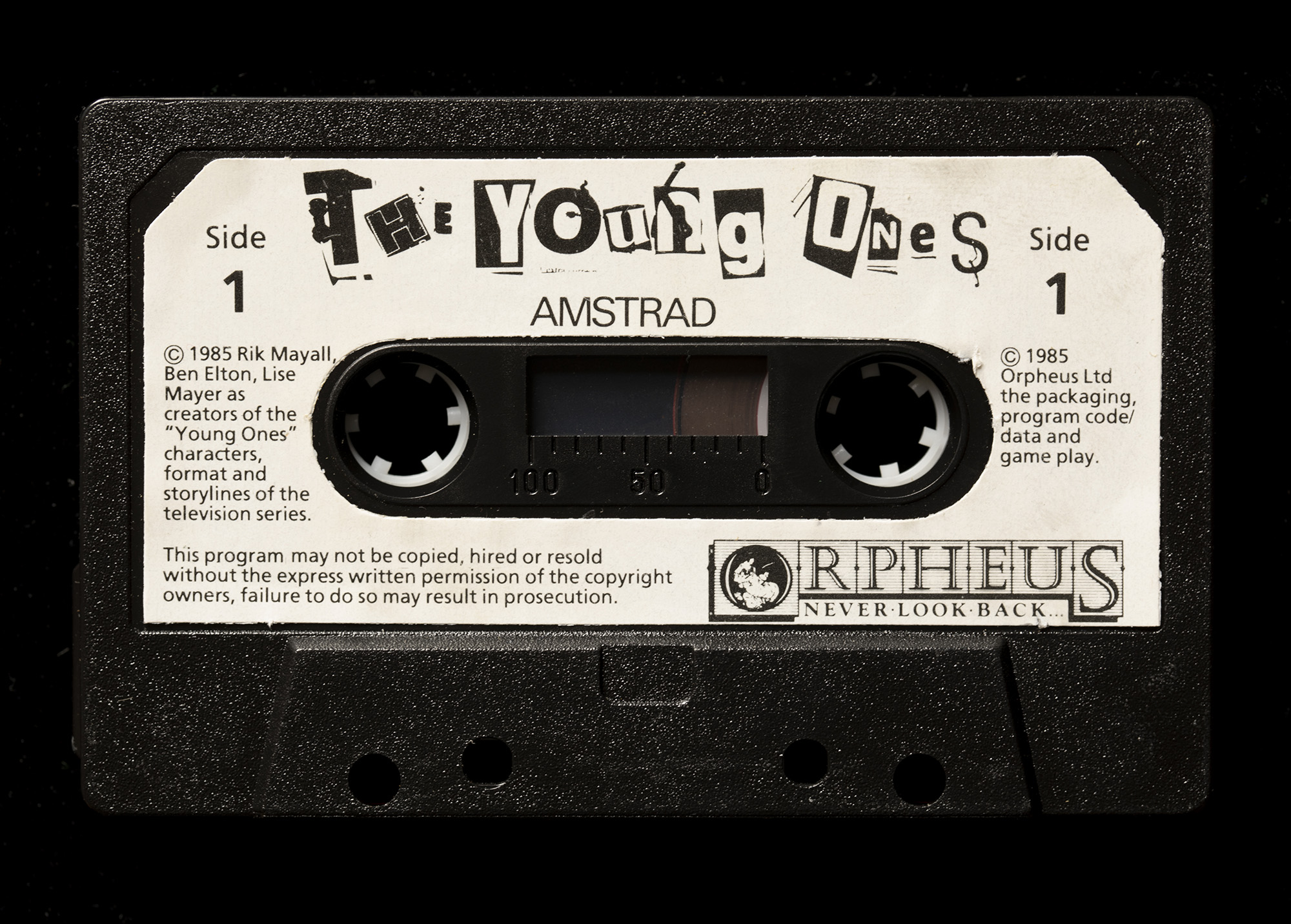 The Young Ones computer game cassette tape for amstrad