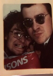 Paul and his mate Stewart in the photo booth.