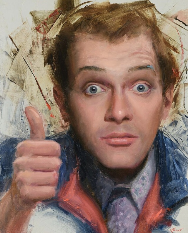 Painting of Kevin Turvey by Clive Bryant