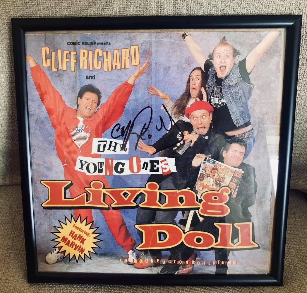 Living Doll single Signed by Cliff Richard