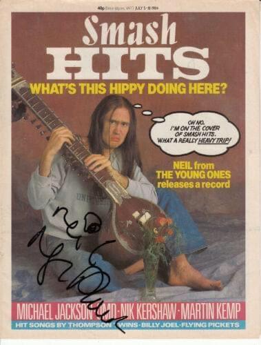Smash Hit Magazine signed by Nigel Planer
