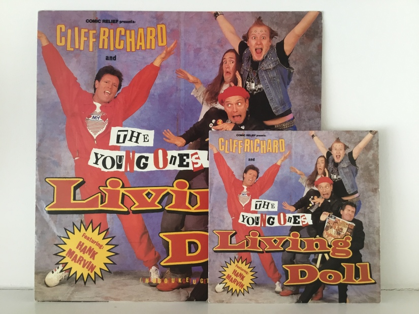 """Cliff Richard and Th Young Ones Living Doll single in 12"""" and 7"""""""