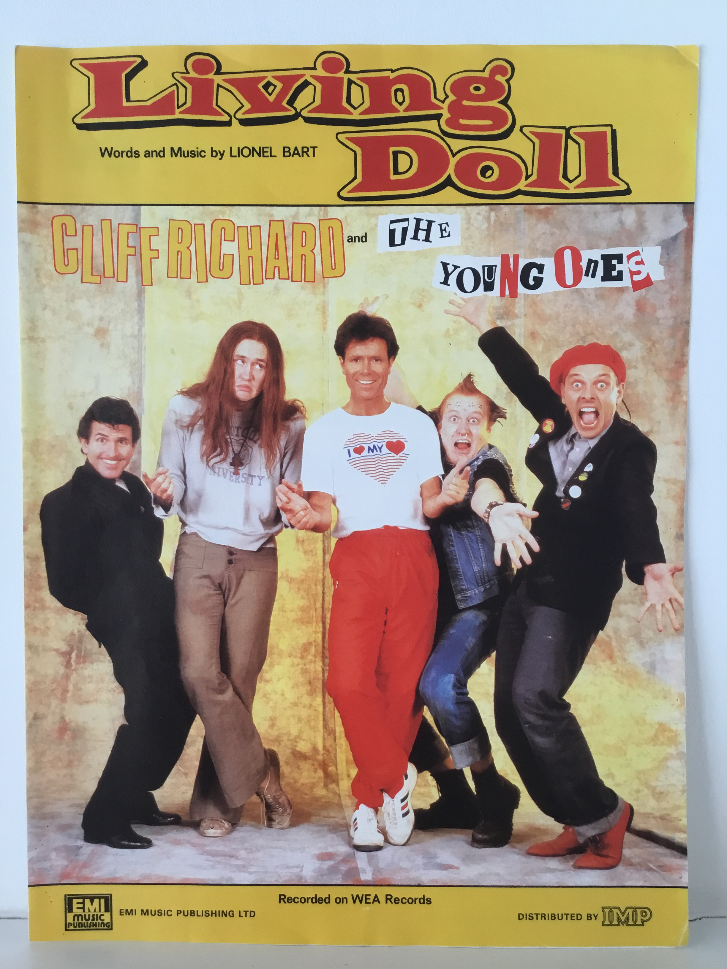 Cliff Richard and the young ones Living Doll music sheet