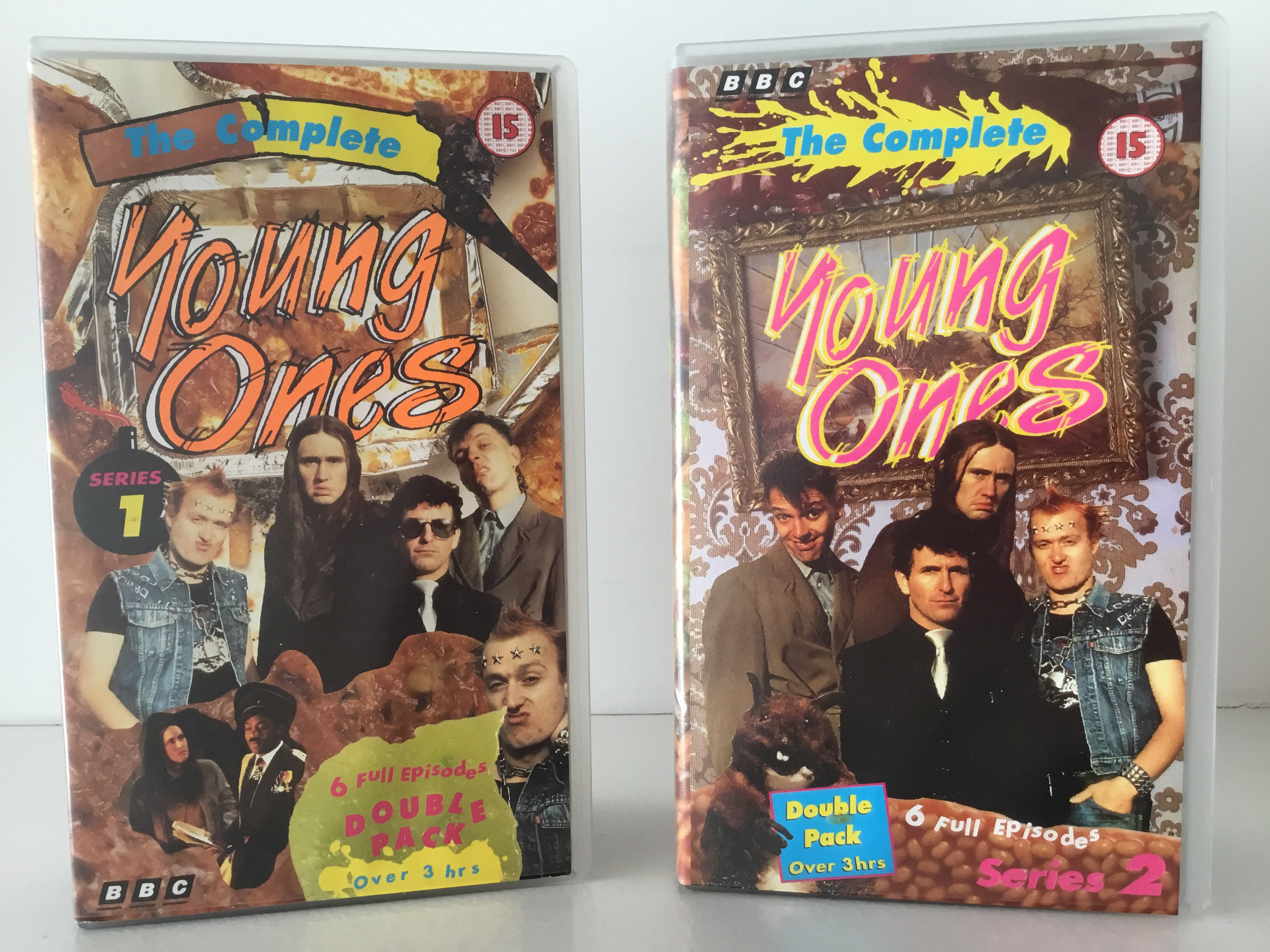 Two double pack editions of the young ones on VHS