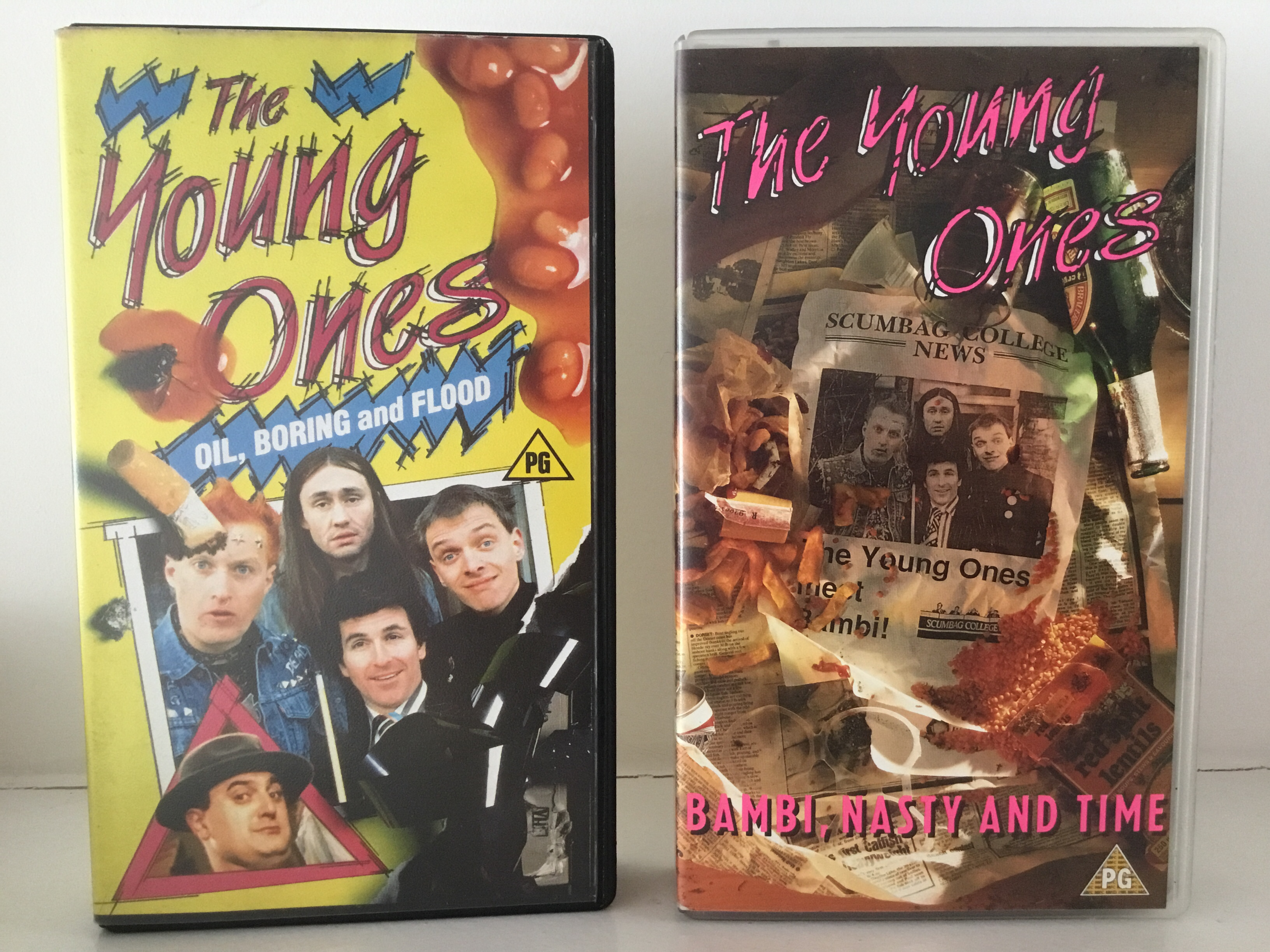 first two VHS tapes of The Young Ones
